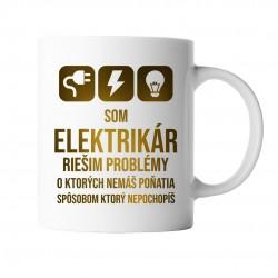 Som elektrikár - riešim problémy - keramický hrnček s potlačou
