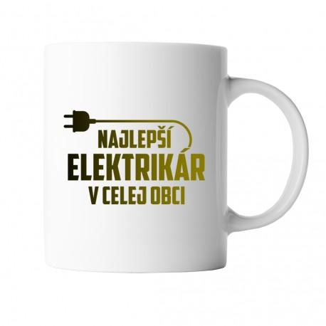 Najlepší elektrikár v celej obci - keramický hrnček s potlačou