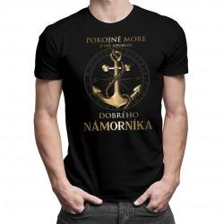 Pokojné more - pánske tričko s potlačou