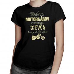 Dievča motorkárov je oveľa lepšie - dámske tričko s potlačou