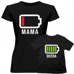 Batérie - tričko pre mamu a dceru