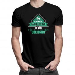 Bezpečnosť je najdôležitejšia - doktor - pánske tričko s potlačou