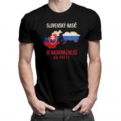 Slovenský hasič je najodvážnejší na svete - pánske tričko s potlačou