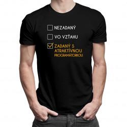 Zadaný s atraktívnou programátorkou - pánske tričko s potlačou