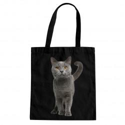 Britská mačka - taška s potlačou