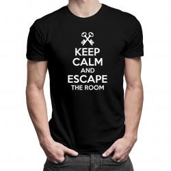 Keep calm and escape the room - Pánske a dámske tričko s potlačou