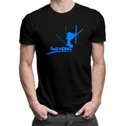 I love ski- Pánske a dámske tričko s potlačou
