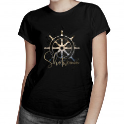Shotwoman - dámske tričko s potlačou