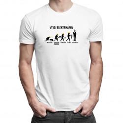Vývoj elektrikárov - pánske tričko s potlačou