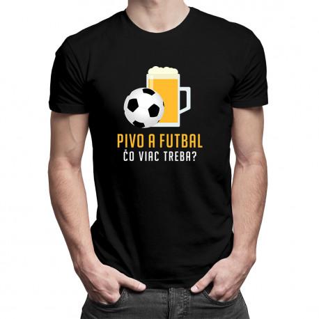 Pivo a futbal - čo viac treba? - pánske tričko s potlačou