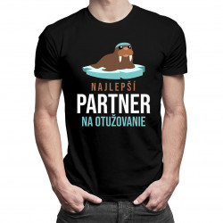 Najlepší partner na otužovanie- pánske tričko s potlačou