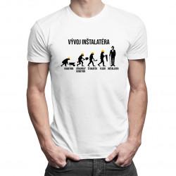 Vývoj inštalatéra - pánske tričko s potlačou