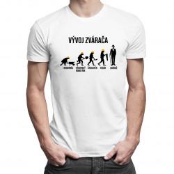 Vývoj zvárača - pánske tričko s potlačou