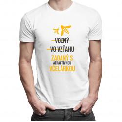 Voľný - Vo vzťahu - Zadaný s atraktívnou včelárkou - pánske tričko s potlačou