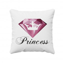 Princess - vankúš s potlačou