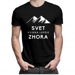 Svet vyzerá lepšie zhora - pánske tričko s potlačou