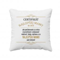 Certifikát najlepšej mamy na svete - vankúš