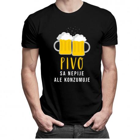 Pivo sa nepije, ale konzumuje - pánske a dámske tričko s potlačou