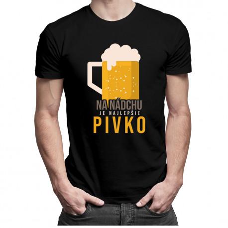 Na nádchu je najlepšie pivko - pánske tričko s potlačou