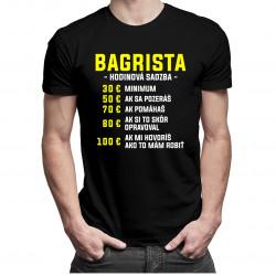Bagrista - hodinová sadzba - pánske tričko s potlačou
