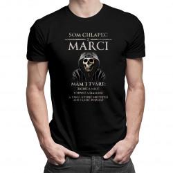 Som chlapec z marci - mám 3 tváre - pánske tričko s potlačou