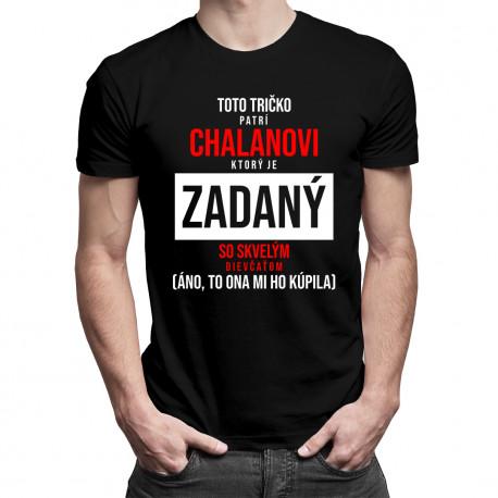 Toto tričko patrí chalanovi - pánske tričko s potlačou