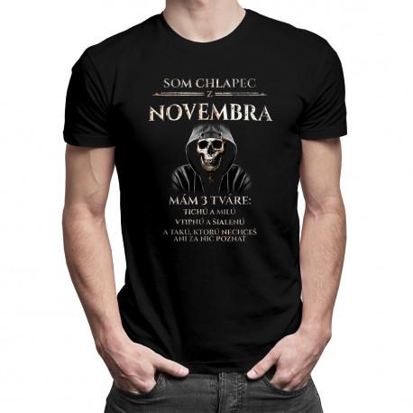 Som chlapec z novembra - mám 3 tváre - pánske tričko s potlačou