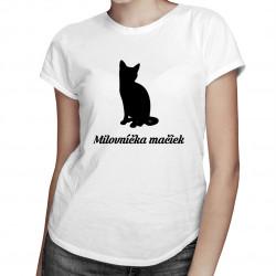 Milovníčka mačiek - dámske tričko s potlačou