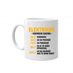 Elektrikár: hodinová sadzba - keramický hrnček s potlačou