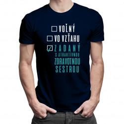 Voľný - Vo vzťahu - Zadaný atraktívnou zdravotnou sestrou - pánske tričko s potlačou