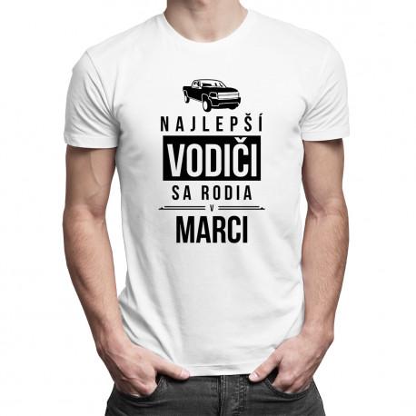 Najlepší vodiči sa rodia v marci - pánske tričko s potlačou