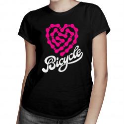 Bicycle – heartbeat chain - dámske tričko s potlačou