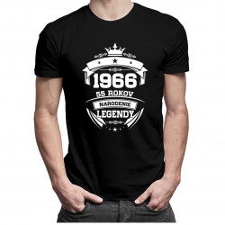 1966 Narodenie legendy 55 rokov - pánske tričko s potlačou