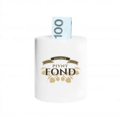 Osobný pivný fond - Keramická pokladnička s potlačou