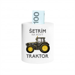 Šetrím na nový traktor - Keramická pokladnička s potlačou