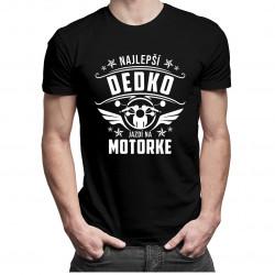 Najlepší dedko jazdí na motorke - Pánske tričko s potlačou