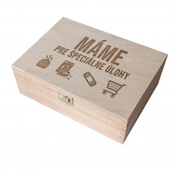 Máme pre špeciálne úlohy - Drevený box na čaj s gravírovaním