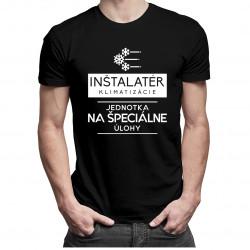 Inštalatér klimatizácie - jednotka na špeciálne úlohy - pánske tričko s potlačou