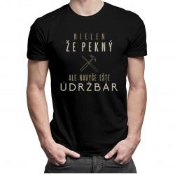 Nielen, že pekný, ale navyše ešte údržbár - pánske tričko s potlačou