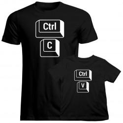Sada pre otca a syna - Ctrl+C Ctrl+V -tričko s potlačou