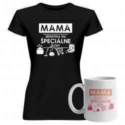 Sadapre mamu -Mama - jednotka na špeciálne úlohy - tričko + hrnček s potlačou