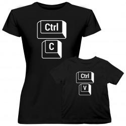 Sada pre mamu a dceru - Ctrl+C Ctrl+V - tričko s potlačou