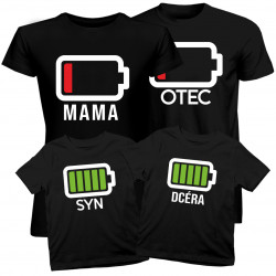 Sada pre rodinu - Batérie- tričko s potlačou