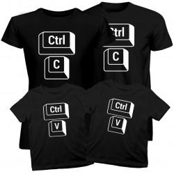 Sada pre rodinu - Ctrl+C+ Ctrl+V - tričko s potlačou