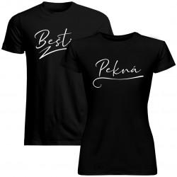 Sada pre páry -PeknáBeštia - tričko s potlačou