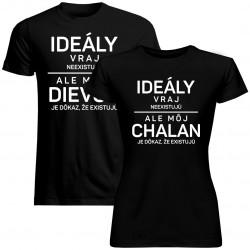 Sada pre páry -Ideály vraj neexistujú - tričko s potlačou