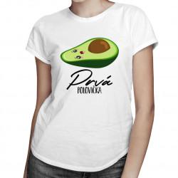 Prvá polovičkav2 - Dámske tričko s potlačou