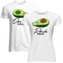 Sada pre páry -Prvá polovička (dámske) Druhá polovička (pánske) v2 -tričko s potlačou