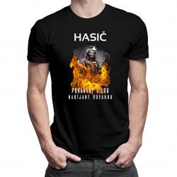 Hasič - poháňaný silou, nabíjaný odvahou - pánske tričko s potlačou
