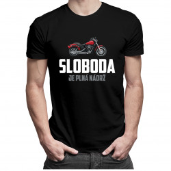 Sloboda je plná nádrž - pánske tričko s potlačou